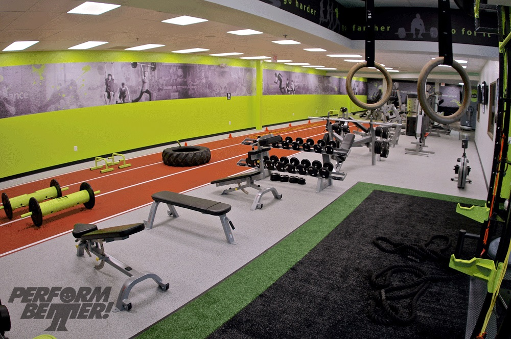 Fitness facility gym design for Athletic training facility design