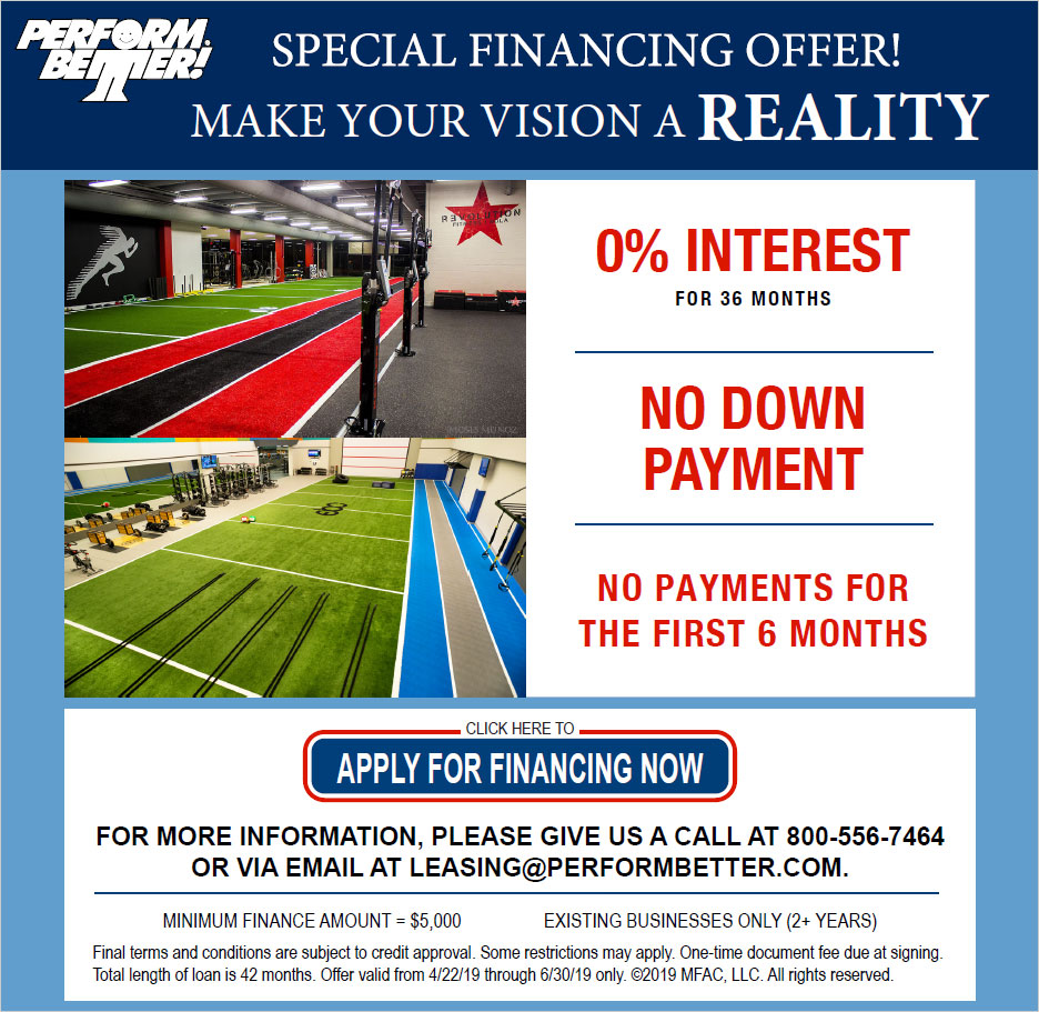 Special Financing Offer! 0% interest for 36 months. No down payment. No payments for the first 6 months.