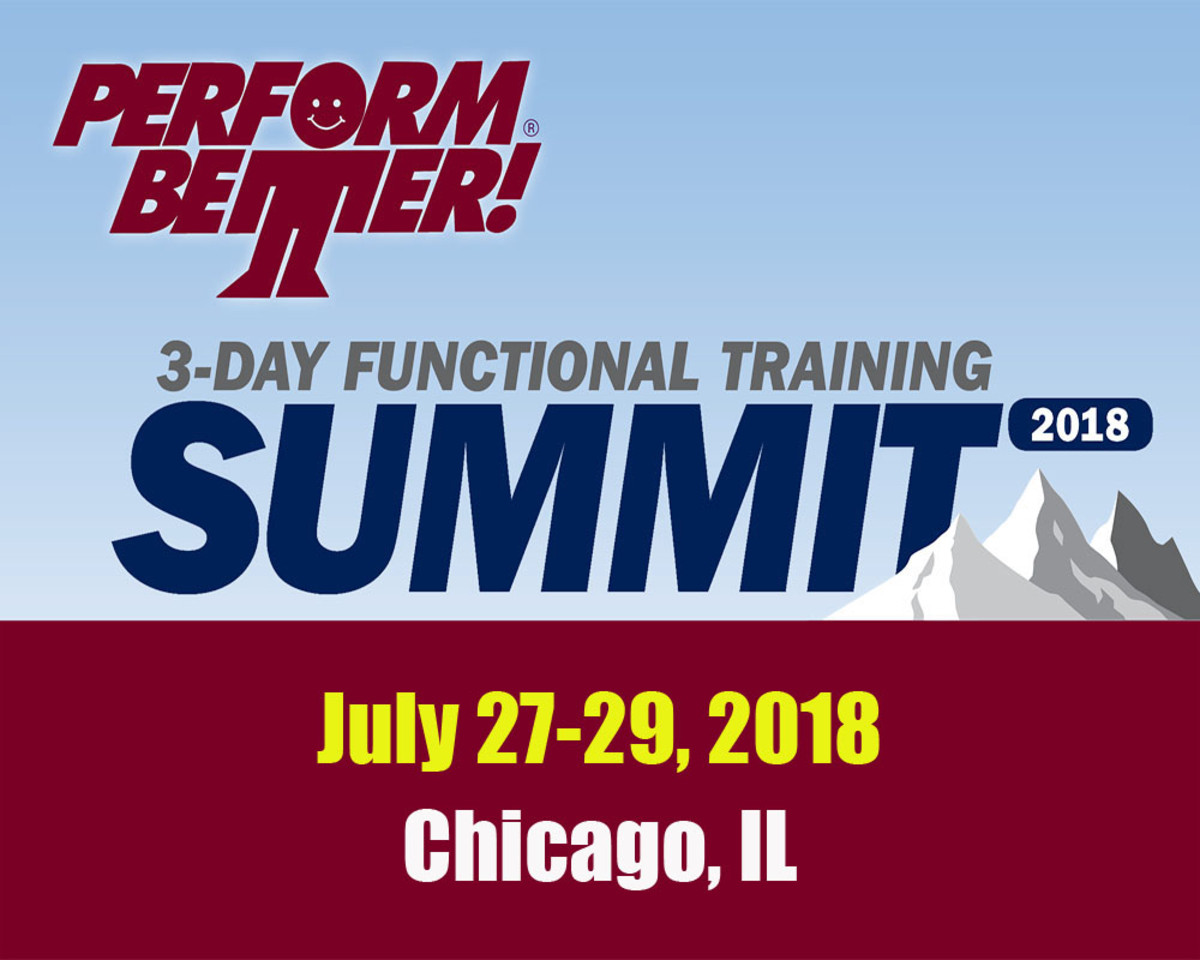 Three Day Functional Training Summit, Chicago, IL
